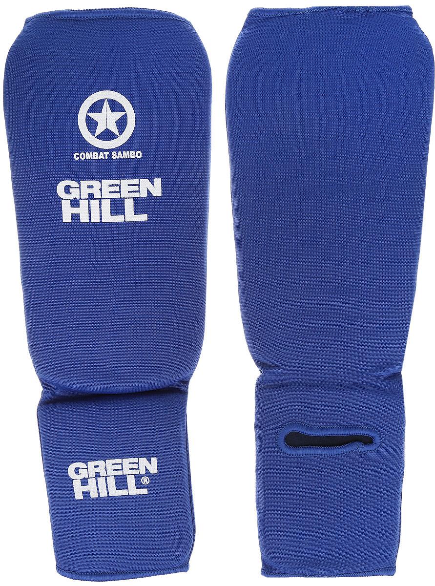 Защита голени и стопы Green Hill Combat Sambo, цвет: синий, белый. Размер L. SC-61312SC-61312LЗащита голени и стопы Green Hill Combat Sambo с наполнителем, выполненным из вспененного полимера, необходима при занятиях спортом для защиты пальцев и суставов от вывихов, ушибов и прочих повреждений. Накладки выполнены из высококачественного полиэстера и хлопка. Длина голени: 27 см. Ширина голени: 15 см. Длина стопы: 15 см. Ширина стопы: 11,5 см.