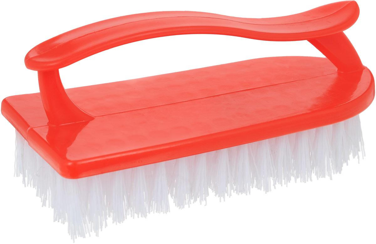 Щетка Home Queen Утюг, универсальная, цвет: красный. 8787_красныйЩетка Home Queen Утюг, выполненная из полипропилена, является универсальной щеткой для очистки поверхностей ванной комнаты и кухни. Изделие оснащено удобной ручкой. Размер щетки: 14,5 х 6 х 6,5 см. Длина щетины: 2 см.