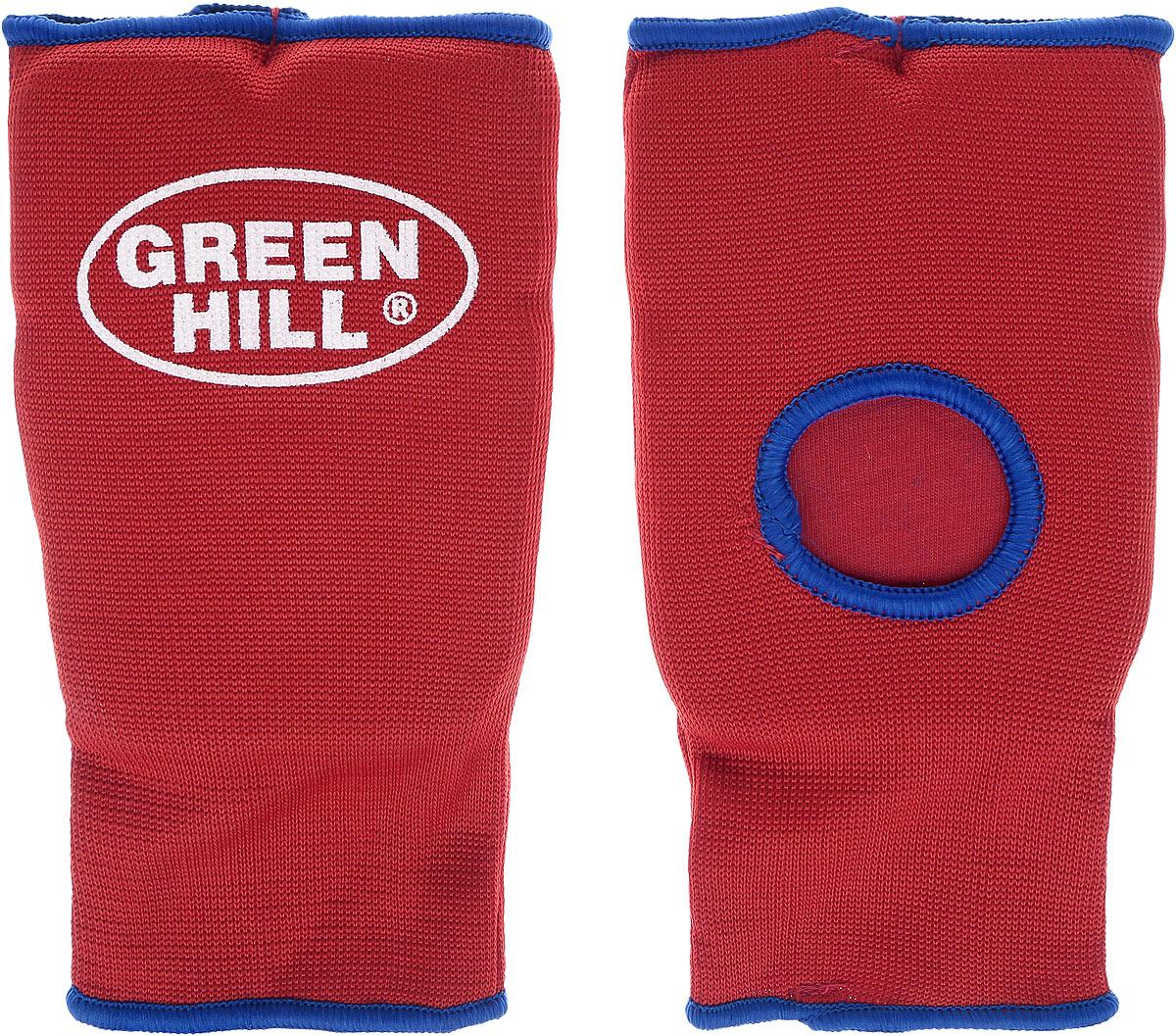 Защита на кисть Green Hill, цвет: красный, синий. Размер L. HP-0053HP-0053Защита на кисть Green Hill предназначена для занятий различными видами единоборств. Она защищает руки от синяков, вывихов и ушибов. Защита изготовлена из хлопка с эластаном, мягкие вкладки изготовлены из вспененного полимера. Растягивается до 40%.