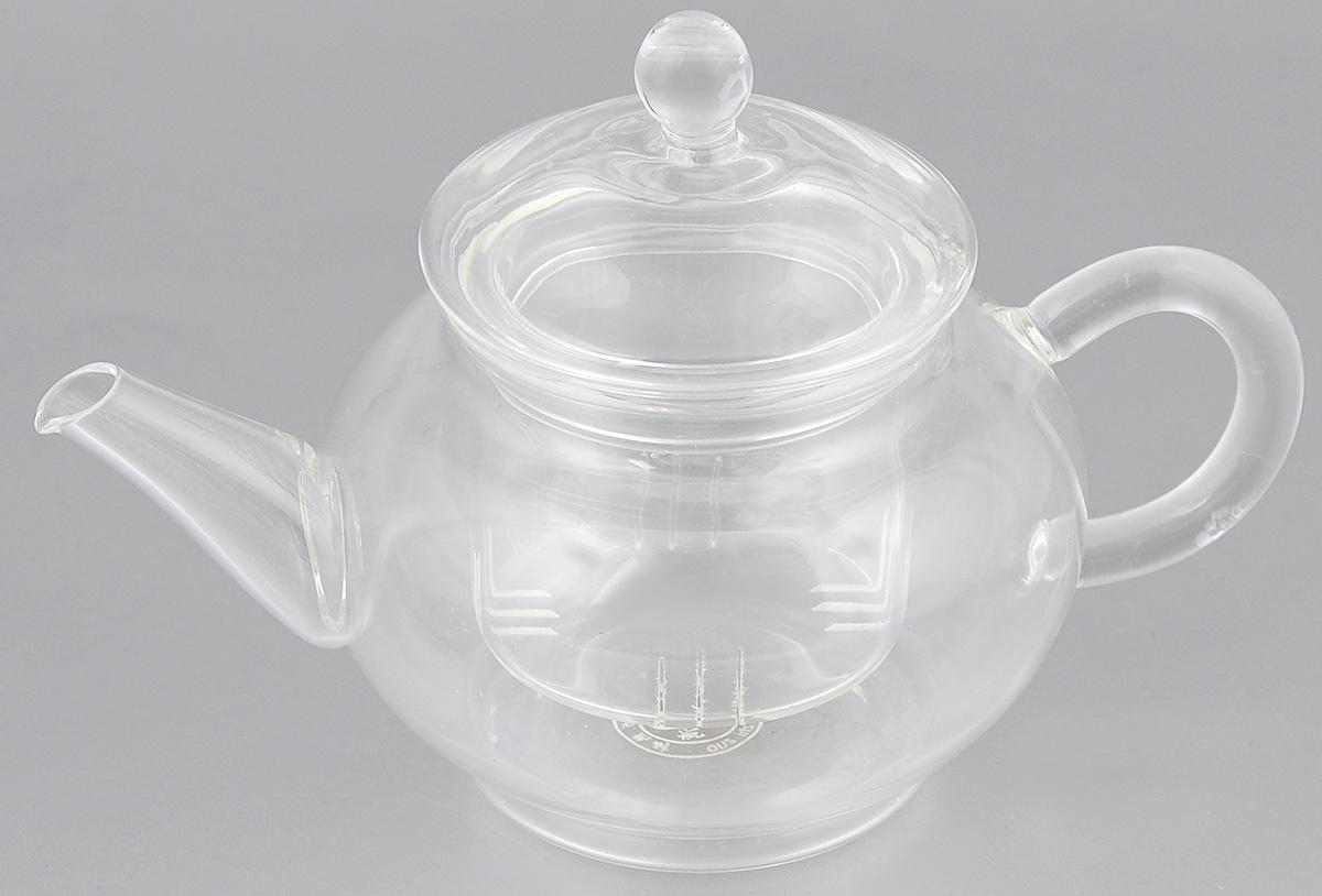 Чайник заварочный Hunan Provincial Ирга, 250 мл15012Заварочный чайник Hunan Provincial Ирга изготовлен из стекла. Пить чай из такого чайника сплошное удовольствие! Полностью прозрачная форма позволяет любоваться цветом своего любимого напитка. Устойчивая основа, широкий носик, удобная ручка - все выполнено идеально для достижения полного комфорта в использовании. Внутреннее сито выполнено на 100% из стекла. После того, как чай заварился, колбу лучше всего достать из чайника, для того чтобы чайный лист не перезаваривался. Диаметр чайника (по верхнему краю): 5,5 см. Высота чайника (без учета крышки): 6 см. Высота чайника (с учетом крышки): 10 см. Высота фильтра: 4,8 см.