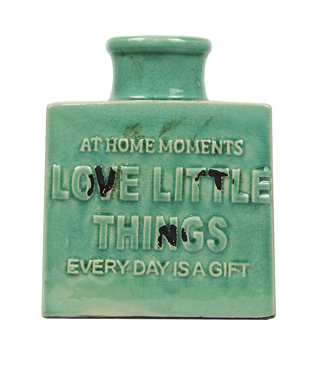 Ваза Этажерка Litlle things, цвет: бирюзовый, высота 19 смB11AJF009Ваза Этажерка Litlle things выполнена из высококачественной керамики и имеет изысканный внешний вид. Такая ваза станет идеальным украшением интерьера и прекрасным подарком к любому случаю. Высота вазы: 19 см.