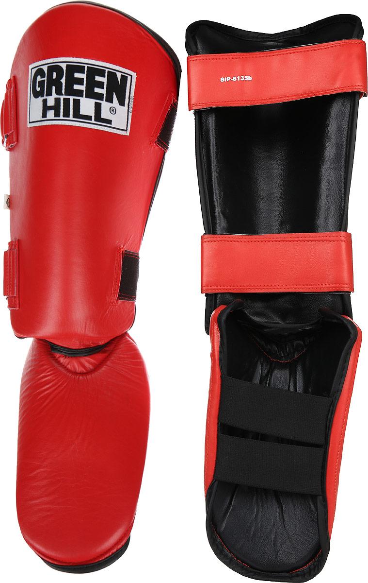 Защита голени и стопы Green Hill, цвет: красный, черный. Размер S. SIPS-6135bSIPS-6135bЗащита голени и стопы Green Hill необходима при занятиях спортом для защиты пальцев и суставов от вывихов, ушибов и прочих повреждений. Выполнена из высококачественной натуральной кожи. Наполнитель изготовлен из вспененного полимера. Защита закрепляется при помощи ремней на липучках. Защита правильно подобранного размера надежно сидит на ноге, не спадает и не сваливается во время поединка. Длина голени: 31 см. Ширина голени: 16 см. Длина стопы: 23 см. Ширина стопы: 16 см.
