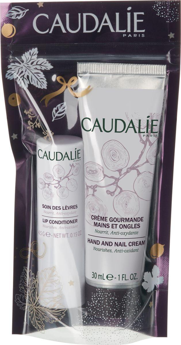 Caudalie Набор Идеальный дуэт: Изысканный крем для рук и ногтей 30 мл, Гигиеническая помада 4,5 гр