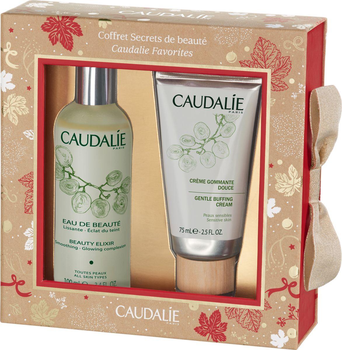 Caudalie Набор с Водой для красоты лица и мягкого отшелушивающего крема