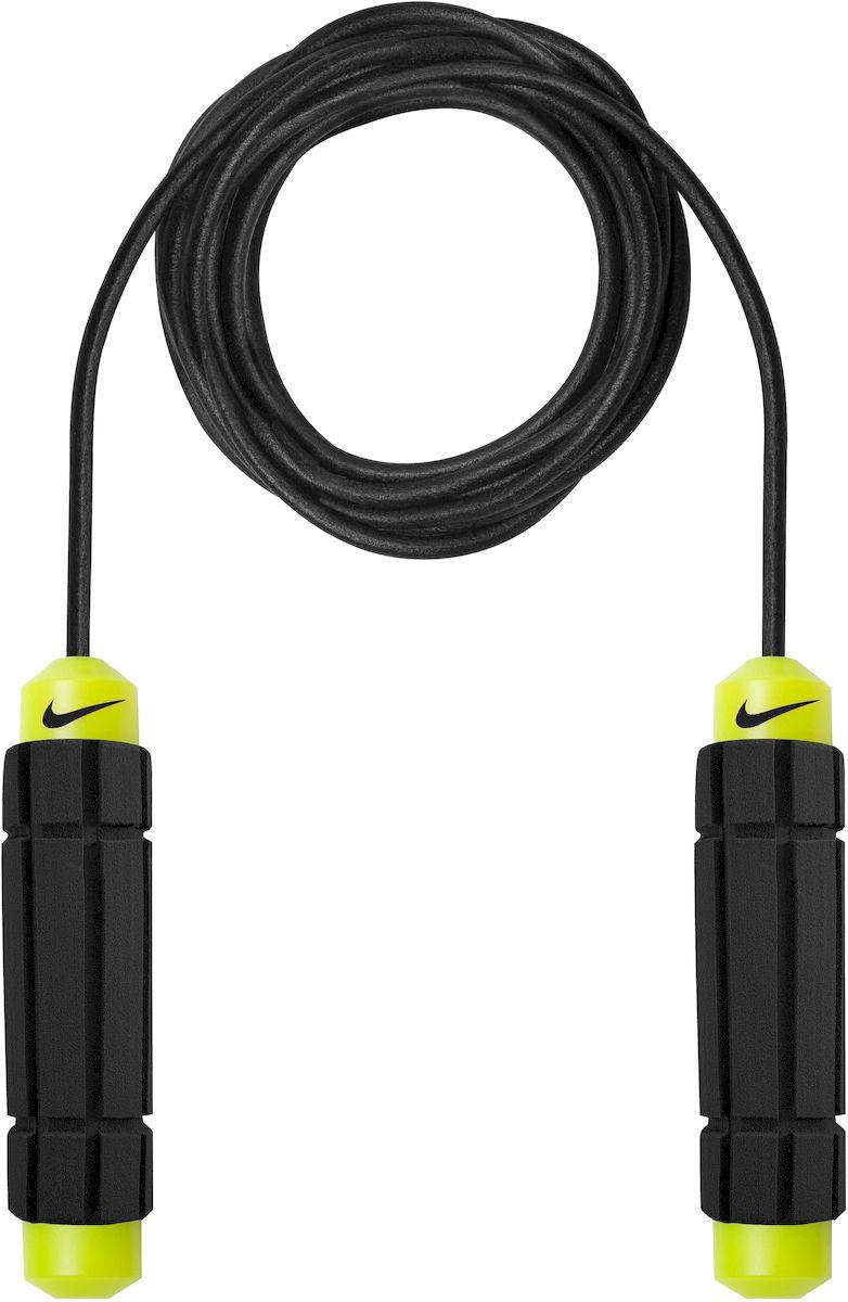 Скакалка Nike Weighted Rope 2.0 Ns, цвет: желтый, черныйN.ER.11.753.NS- Скакалка с утяжелителем для смягчения скорости размаха. - Рукоятки с утяжелителями придают интенсивность тренировкам. - Мягкие, форменные ручки.