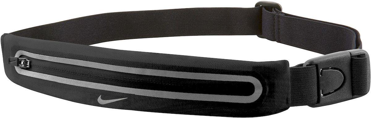 Сумка для бега Nike Lean Waistpack, цвет: черныйN.RL.46.022.OS- Регулируемый эластичный ремешок обеспечивает надежную комфортную посадку во время тренировки - Растяжимый эластичный сетчатый материал обеспечивает требуемое пространство для хранения - Низкая и надежная посадка предотвращает смещение - Застежка позволяет быстро снимать и одевать сумку - Светоотражающие детали повышают видимость при слабом освещении