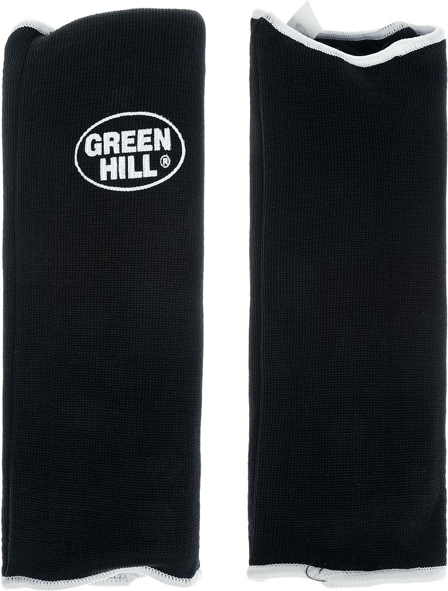 Защита на предплечье Green Hill, цвет: черный, белый. Размер XXL. AP-6132AP-6132Защита на предплечье Green Hill предназначена для занятий различными видами единоборств. Она защищает руки от синяков и ушибов. Защита изготовлена из хлопка с эластаном, мягкие вкладки изготовлены из вспененного полимера.