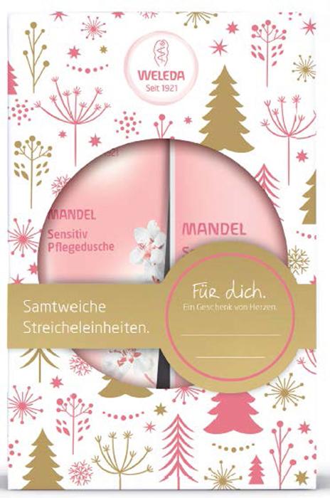 Weleda Подарочный набор Нежный миндаль: Деликатный крем для душа 200 мл и Деликатное молочко для тела 200 мл