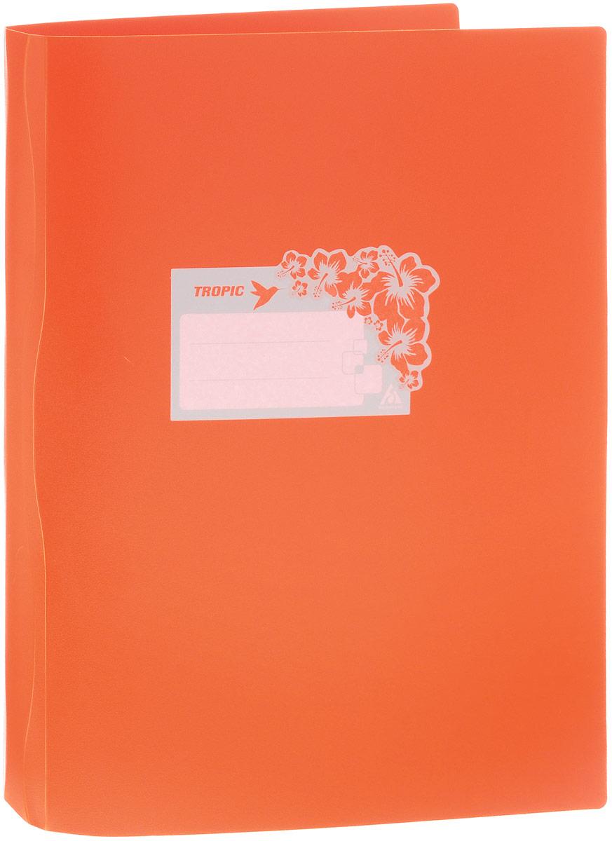 Бюрократ Папка-скоросшиватель Tropic цвет оранжевый816885_оранжевыйПапка Бюрократ Tropic формата А4 идеально подходит для подшивки бумаг в архивные папки с помощью металлического пружинного скоросшивателя. Папка изготовлена из прочного высококачественного пластика. На лицевой стороне обложки имеется декоративная наклейка со строчками для записи ФИО владельца или названия папки. С такой папкой все ваши документы будут в полной сохранности.