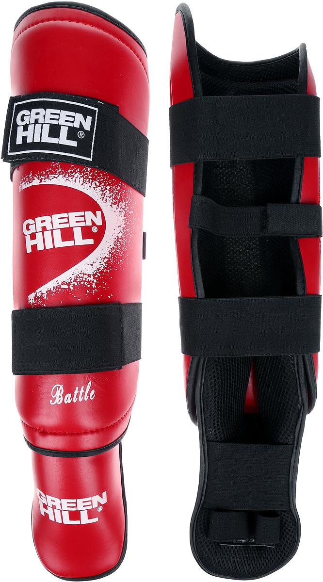 Защита голени и стопы Green Hill Battle, цвет: красный, белый. Размер XL. SIB-0014SIB-0014Защита голени и стопы Green Hill Battle с наполнителем, выполненным из вспененного полимера, необходима при занятиях спортом для защиты пальцев и суставов от вывихов, ушибов и прочих повреждений. Накладки выполнены из высококачественной искусственной кожи. Подкладка изготовлена из хлопка, внутренняя сторона выполнена в виде сетки. Они надежно фиксируются за счет ленты и липучек. При желании защиту голени можно отцепить от защиты стопы. Длина голени: 37 см. Ширина голени: 15 см. Длина стопы: 25 см. Ширина стопы: 13 см.