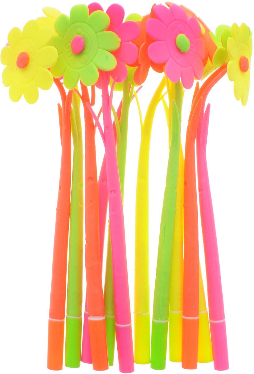 Эврика Ручки мягкие 12 шт 9737797377Оригинальные шариковые ручки выполнены из мягкого полимера в виде симпатичных цветочков. Ручки могут гнуться в разные стороны. Гибкие, удобные ручки с нескользящим корпусом, шариковым пишущим стержнем и удивительным флористическим дизайном вдохновят свежестью формы каждого обладателя. Ручки с синими чернилами и компактными пластиковыми колпачками. Такая ручка станет отличным подарком и незаменимым аксессуаром, она удивит и порадует получателя. Сотрудниц, родных, знакомых и любимых девушек можно радовать целыми букетами, составленными из ручек с разным декором. В наборе присутствуют ручки четырех цветов: розовый, желтый, оранжевый, салатовый.