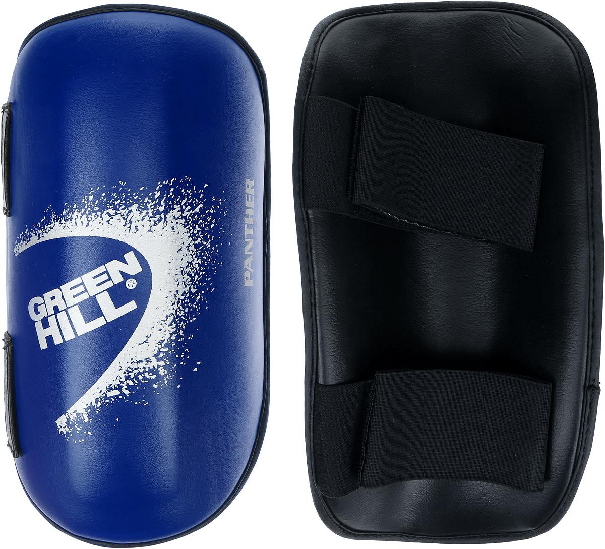 Защита голени Green Hill Panther, цвет: синий, белый. Размер XL. G-2123G-2123-XL/SPP-2124Защита голени Green Hill Panther с наполнителем, выполненным из вспененного полимера, необходима при занятиях спортом для защиты суставов от вывихов, ушибов и прочих повреждений. Накладки выполнены из высококачественной искусственной кожи. Закрепляются на ноге при помощи эластичных лент и липучек. Длина голени: 36 см. Ширина голени: 13,5 см.