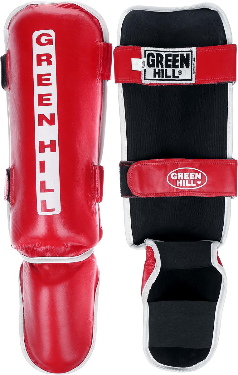 Защита голени и стопы Green Hill Classic, цвет: красный, белый. Размер S. SIC-0019SIC-0019Защита голени и стопы Green Hill Classic с наполнителем, выполненным из вспененного полимера, необходима при занятиях спортом для защиты пальцев и суставов от вывихов, ушибов и прочих повреждений. Накладки выполнены из высококачественной натуральной кожи. Они надежно фиксируются за счет ленты и липучек. Удобные и эргономичные накладки Green Hill Classic идеально подойдут для занятий тхэквондо и другими видами единоборств. Длина голени: 34 см. Ширина голени: 15 см. Длина стопы: 17 см. Ширина стопы: 12 см.