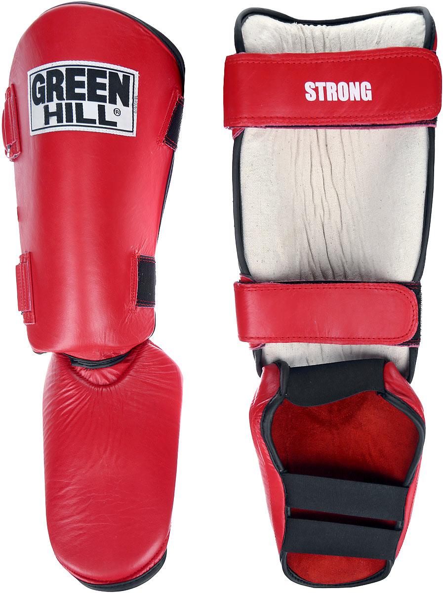Защита голени и стопы Green Hill Strong, цвет: красный, черный. Размер S. SIPS-6135aSIPS-6135aЗащита голени и стопы Green Hill Strong необходима при занятиях спортом для защиты пальцев и суставов от вывихов, ушибов и прочих повреждений. Выполнена из высококачественной натуральной кожи. Наполнитель изготовлен из вспененного полимера. Защита закрепляется при помощи ремней на липучках. Защита правильно подобранного размера надежно сидит на ноге, не спадает и не сваливается во время поединка. Длина голени: 31 см. Ширина голени: 14 см. Длина стопы: 19 см. Ширина стопы: 17 см.