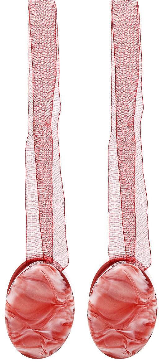 Клипса-магнит для штор Calamita Fiore, цвет: бордовый, 2 шт. 675265_633675265_633Клипса-магнит Calamita Fiore, изготовленная из пластика, предназначена для придания формы шторам. Изделие представляет собой два магнита овальной формы, расположенные на разных концах текстильной ленты. С помощью такой магнитной клипсы можно зафиксировать портьеры, придать им требуемое положение, сделать складки симметричными или приблизить портьеры, скрепить их. Клипсы для штор являются универсальным изделием, которое превосходно подойдет как для штор в детской комнате, так и для штор в гостиной. Следует отметить, что клипсы для штор выполняют не только практическую функцию, но также являются одной из основных деталей декора этого изделия, которая придает шторам восхитительный, стильный внешний вид. Материал: полиэстер, пластик, магнит. Длина клипсы: 5 см.; ширина 3,5 см. Длина ленты: 28 см.