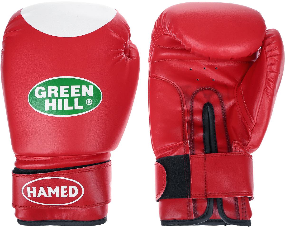 Перчатки боксерские Green Hill Hamed, цвет: красный, белый. Вес 14 унцийG-2036114Боксерские перчатки Green Hill Hamed прекрасно подойдут для прогрессирующих спортсменов. Верх выполнен из искусственной кожи, наполнитель - из пенополиуретана. Перфорированная поверхность в области ладони позволяет создать максимально комфортный терморежим во время занятий. Широкий ремень, охватывая запястье, полностью оборачивается вокруг манжеты, благодаря чему создается дополнительная защита лучезапястного сустава от травмирования. Перчатки прекрасно сидят на руке. Застежка на липучке способствует быстрому и удобному надеванию перчаток, плотно фиксирует перчатки на руке.