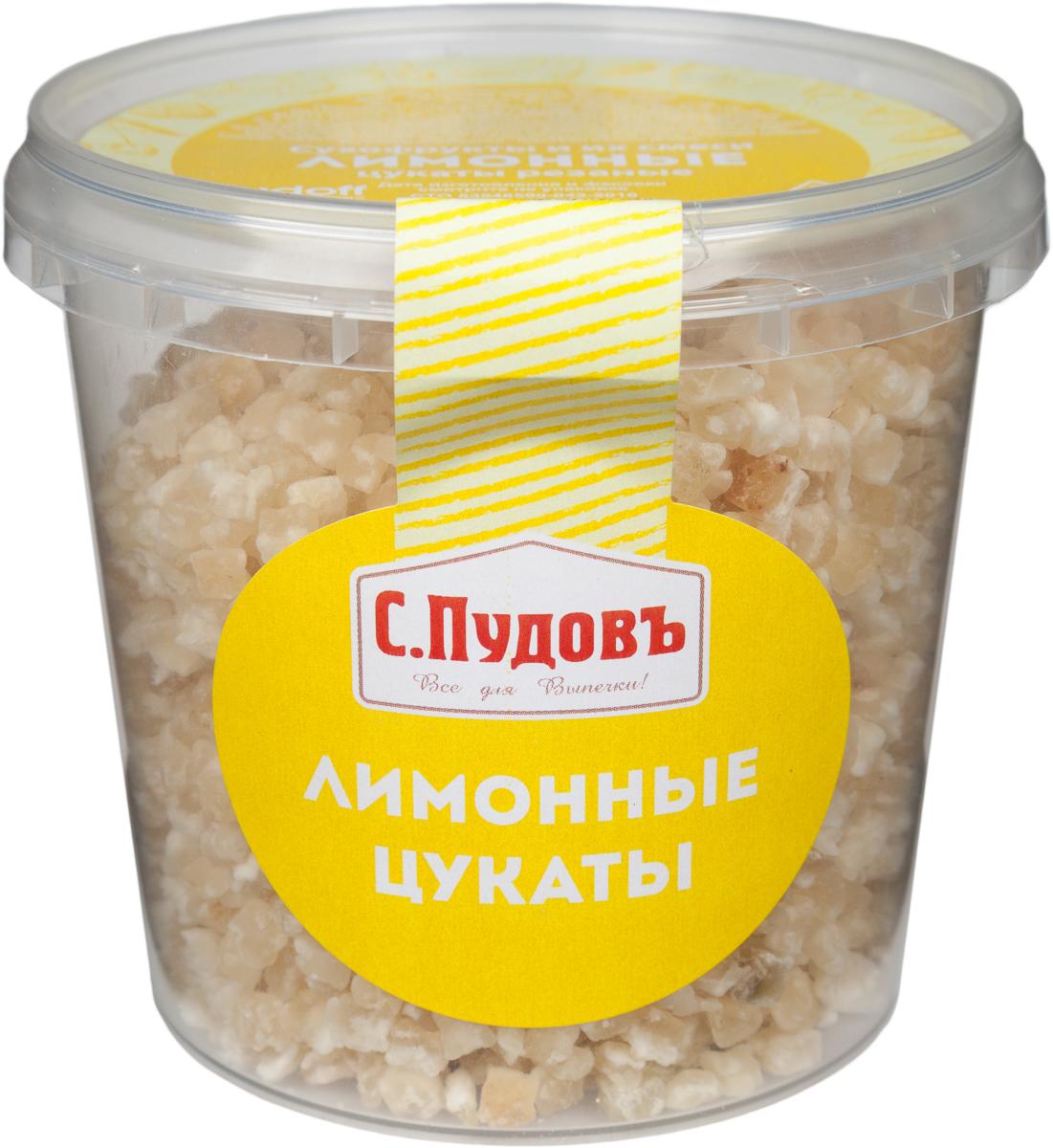 С. Пудовъ Пудовъ лимонные цукаты, 230 г 4607012297532