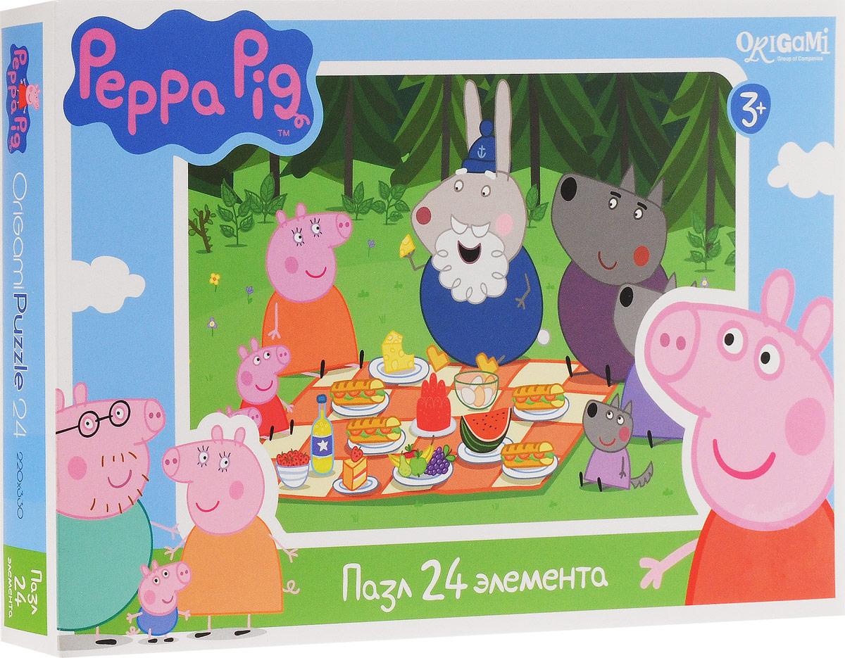 Оригами Пазл для малышей Peppa Pig Пикник в лесу1569_Пикник в лесуПазл для малышей Оригами Peppa Pig. Пикник в лесу придется по душе всем юным поклонникам свинки Пеппы. Собрав этот пазл, включающий в себя 24 элемента, вы получите картинку с изображением сюжета из популярного мультфильма. Пазл - великолепная игра для семейного досуга. Сегодня собирание пазлов стало особенно популярным, главным образом, благодаря своей многообразной тематике, способной удовлетворить самый взыскательный вкус. А для детей это не только интересно, но и полезно. Собирание пазла развивает мелкую моторику у ребенка, тренирует наблюдательность, логическое мышление, знакомит с окружающим миром, с цветом и разнообразными формами.