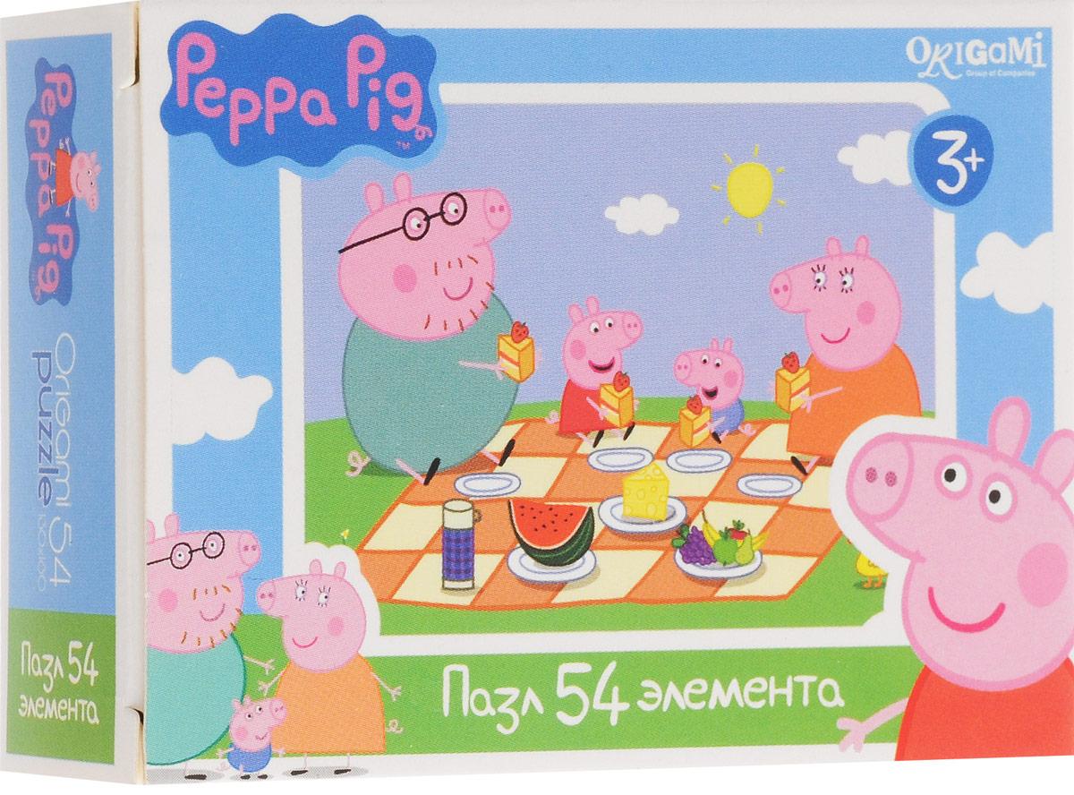 Оригами Пазл для малышей Peppa Pig Пикник1595_пикник, 01595Пазл для малышей Оригами Peppa Pig. Пикник придется по душе всем юным поклонникам свинки Пеппы. Собрав этот пазл, включающий в себя 54 элемента, вы получите картинку с изображением сюжета из популярного мультфильма. Пазл - великолепная игра для семейного досуга. Сегодня собирание пазлов стало особенно популярным, главным образом, благодаря своей многообразной тематике, способной удовлетворить самый взыскательный вкус. А для детей это не только интересно, но и полезно. Собирание пазла развивает мелкую моторику у ребенка, тренирует наблюдательность, логическое мышление, знакомит с окружающим миром, с цветом и разнообразными формами.