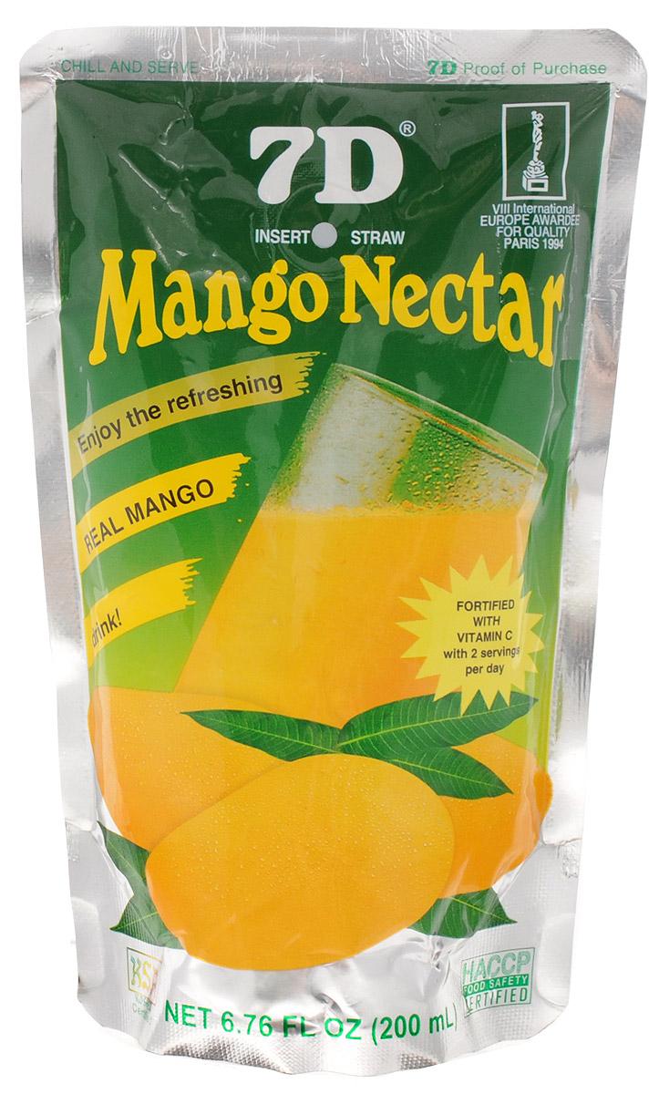 7D Нектар из манго, 200 мл11136792Нектар манго 7D - свежий ароматный напиток, обладающий приятным вкусом и легкой консистенцией. Нектар манго дарит настроение и заряд бодрости на целый день. Кроме того, помогает в борьбе с отеками, улучшает обмен веществ и укрепляет иммунитет. А разве не это так необходимо нашему организму долгой русской зимой! Нектар манго изготавливается из пюре спелых плодов с добавлением воды и сахара. Никаких химических соединений в стакане ароматного напитка вы не найдете. Только натуральная свежесть и солнечное настроение. А еще вы можете приготовить огромное количество прохладительных напитков и коктейлей на основе нектара манго. Уважаемые клиенты! Обращаем ваше внимание, что полный перечень состава продукта представлен на дополнительном изображении.