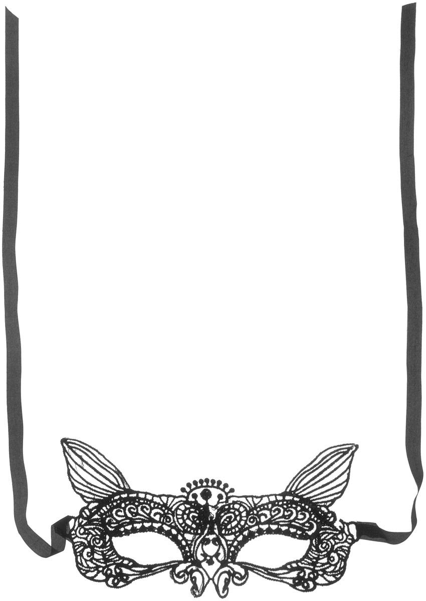 Partymania Карнавальная маска Кружево цвет черный T1228_4