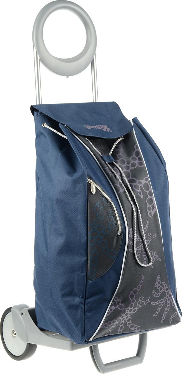 Сумка-тележка Gimi Market, 48 л1579585704012Gimi Market - эта удобная сумка-тележка пригодится каждой хозяйке. Ее мобильность и простота позволит вам без труда ей пользоваться. Ткань сумки водонепроницаема. Корпус сумки- тележки состоит из стали. Пластмасса, используемая в производстве тележки, повышенной прочности. Имеет дополнительный наружный карман на молнии. Удобная и стильная сумка-тележка предназначена для перевоза любого груза. Теперь вам не придётся нести тяжёлые сумки в руках. Эта сумка-тележка поможет вам без особого труда и в любую погоду довезти ваши продукты в целости и сохранности. Удобная подставка для вертикального положения сумки- тележки позволят вам оставлять её без дополнительного внимания. Максимальная нагрузка: 30 кг.