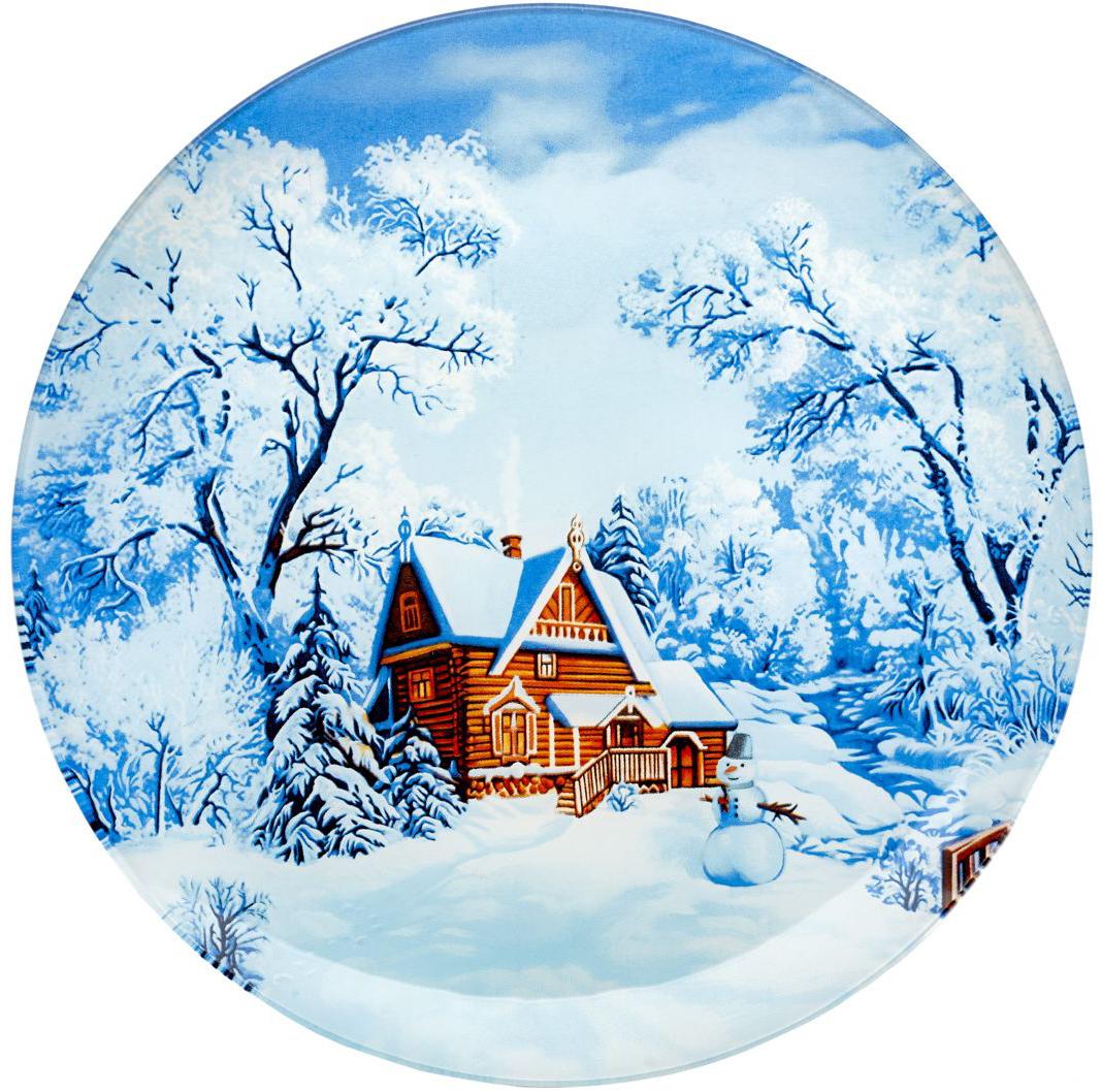 Блюдо сервировочное Walmer Snowman, диаметр 25 смW22022525Сервировочное блюдо Walmer Snowman с изображением зимнего пейзажа изготовлено из стекла. Блюдо отлично подойдет для сервировки различных блюд, например, сладостей или закусок. Интересная подача в таком необычном блюде порадует детей и ваших гостей.