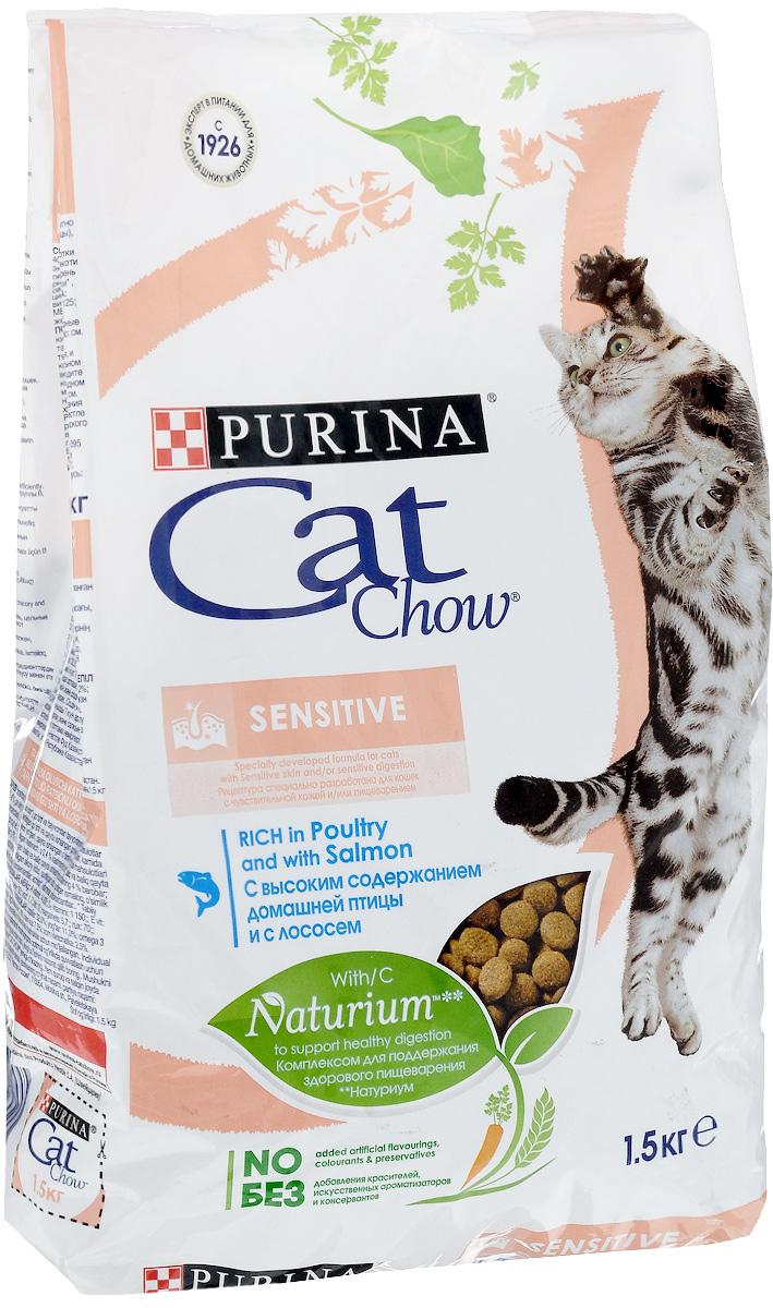 Корм сухой Cat Chow Special Care для кошек с чувствительным пищеварением, 1,5 кг12123733Корм сухой Cat Chow Special Care - полнорационный корм для кошек с чувствительным пищеварением, для здоровья кожи и шерсти. Сама природа вдохновляет компанию PURINA на разработку кормов, которые максимально отвечают потребностям ваших питомцев, с учетом их природных инстинктов. Имея более чем 80-ти летний опыт в области питания животных, PURINA создала новый корм Cat Chow - полностью сбалансированный корм, который не только доставит удовольствие вашей кошке, но и будет полезным для ее здоровья. Особенности корма Cat Chow Special Care: Высокое содержание мяса, с источниками высококачественного белка в каждой порции для поддержания оптимальной массы тела. Особое сочетание натуральных ингредиентов: тщательно отобранные травы и овощи (петрушка, шпинат, морковь, горох). Отборные ингредиенты придают особый аромат. Высокое содержание витамина Е для поддержания естественной защиты организма питомца. ...