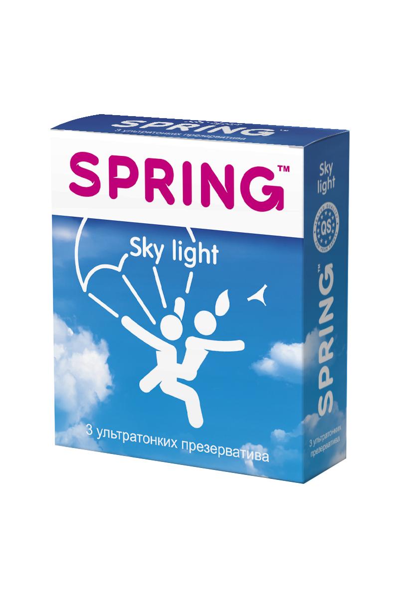 Презервативы SPRING™ Sky Light, ультратонкие, 3 шт.