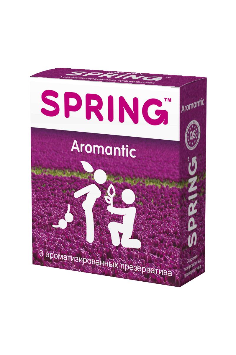 Презервативы SPRING™ Aromantic, аромтизированные, 3 шт.176Тонкие гладкие презервативы с силиконовой смазкой, с нежным ароматом тропических фруктов. Идеальны для использования при оральных ласках: ароматические компоненты, входящие в состав лубриканта, абсолютно безопасны