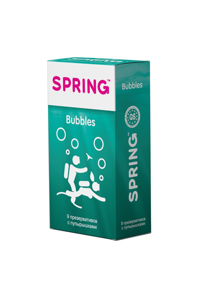 Презервативы SPRING™ Bubbles, с пупырышками, 9 шт.