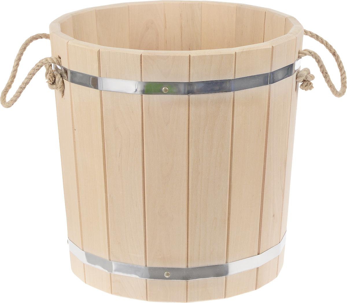 Запарник Доктор баня, с веревочными ручками, 25 л8326_без крышкиЗапарник Банные штучки, изготовленный из дерева (кедр), доставит вам настоящее удовольствие от банной процедуры. При запаривании веник обретает свою природную силу и сохраняет полезные свойства. Корпус запарника состоит из металлических обручей, стянутых клепками. Для более удобного использования запарник имеет веревочные ручки. Баня - место, где одинаково хорошо и в компании, и в одиночестве. Перекресток, казалось бы, разных направлений - общение и здоровье. Приятное и полезное. И всегда в позитиве. Высота запарника: 36,5 см. Диаметр запарника по верхнему краю: 36 см.