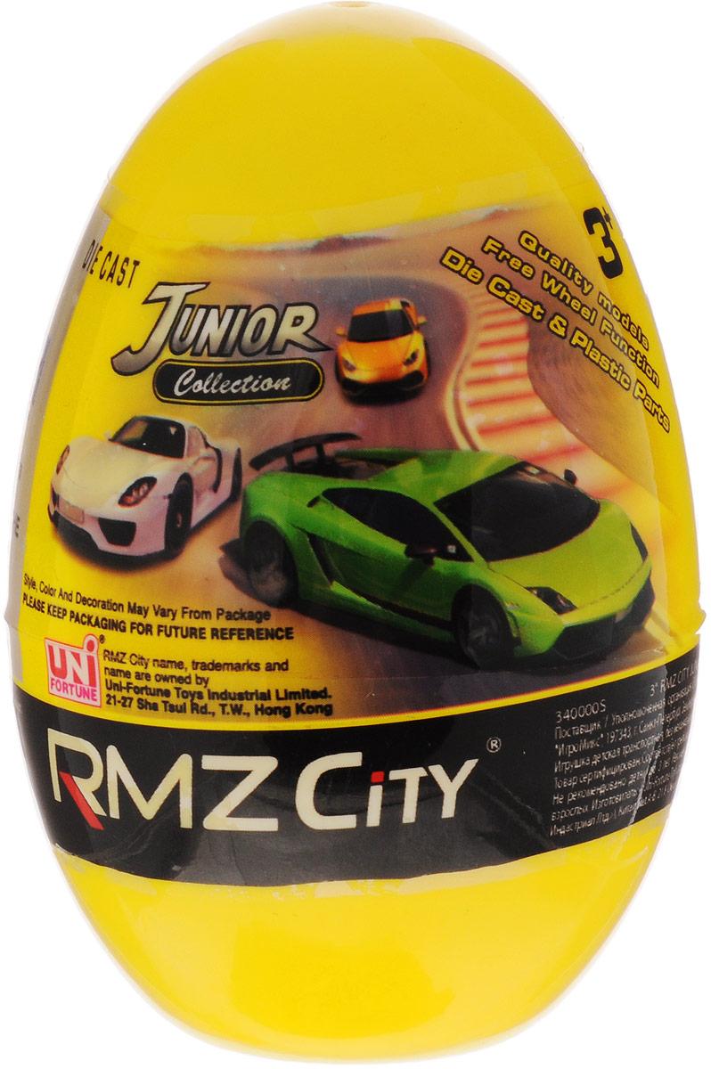 Uni-Fortune Toys Яйцо с моделью автомобиля цвет желтый340000S-36Q_желтыйКаждый мальчик будет рад яйцу с сюрпризом, ведь в нем спрятана металлическая модель машинки в масштабе 1/64. В серии RMZ City всего представлено 9 моделей. Машинка отлично развивает скорость на гладкой поверхности, если ее подтолкнуть, и в точности повторяет внешний вид настоящего автомобиля.
