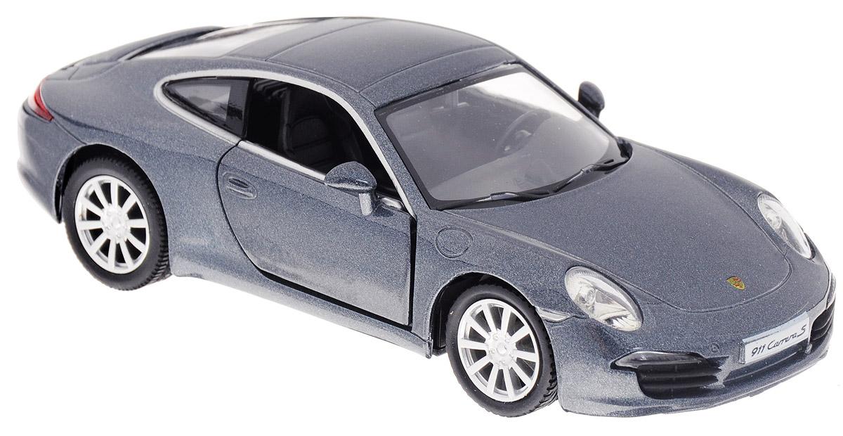 Рыжий Кот Модель автомобиля Porsche 911 Carrera S цвет серо-синий металликИ-1202_темно-серыйМодель автомобиля Porsche 911 Carrera S - миниатюрная копия настоящего автомобиля в масштабе 1/32. Стильная модель автомобиля привлечет к себе внимание не только детей, но и взрослых. Масштабная модель в точности воспроизводит оригинальное авто, включая мельчайшие детали салона. Двери машины открываются. Модель выполнена из металла с пластиковыми элементами. В оформлении использованы пластиковые элементы. Авто обладает функцией инерционного движения. Такая модель станет отличным подарком не только любителю автомобилей, но и человеку, ценящему оригинальность и изысканность, а качество исполнения представит такой подарок в самом лучшем свете.