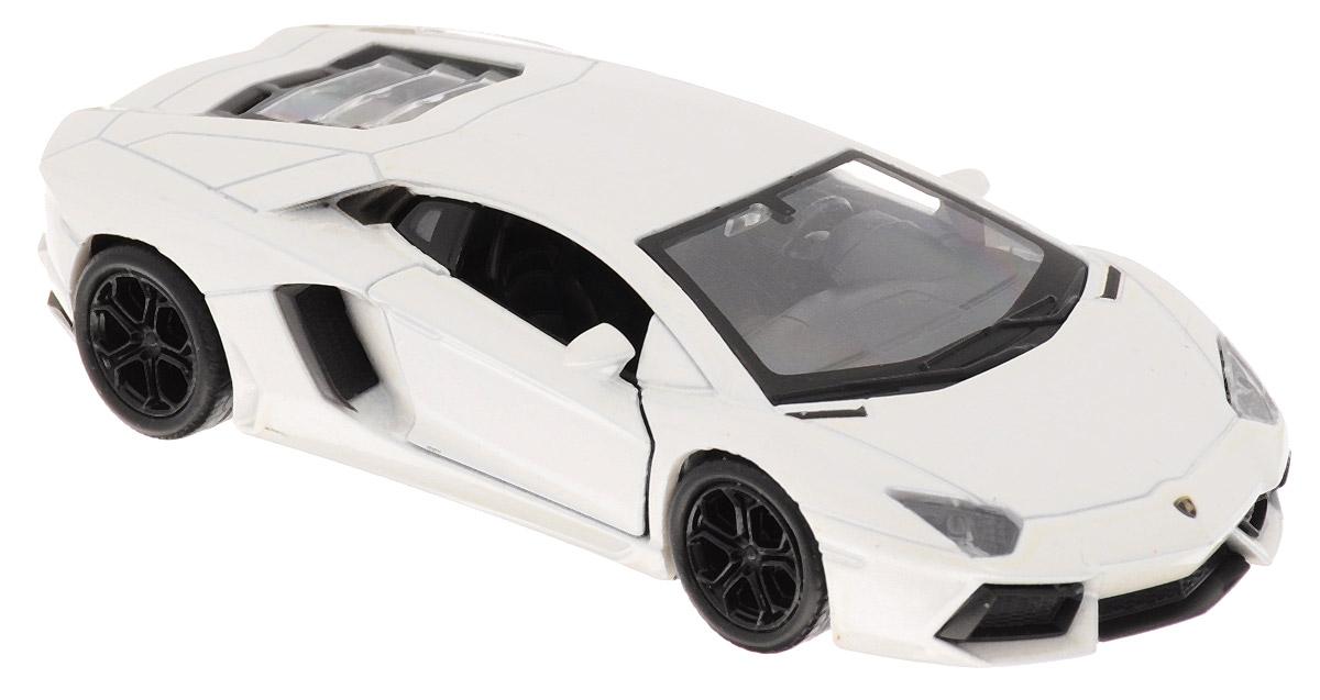 Welly Модель автомобиля Lamborghini Aventador LP700-4 цвет белый43643_белыйМодель автомобиля Welly Lamborghini Aventador LP700-4 - отличный подарок как ребенку, так и взрослому коллекционеру. Благодаря броской внешности, а также великолепной точности, с которой создатели этой модели масштабом 1:34 передали внешний вид настоящего автомобиля, модель станет подлинным украшением любой коллекции авто. Машина будет долго служить своему владельцу благодаря металлическому корпусу с элементами из пластика. Дверцы машины открываются, резиновые шины обеспечивают отличное сцепление с любой поверхностью пола. Такая модель станет замечательным подарком не только любителю автомобилей, но и человеку, ценящему оригинальность и изысканность, а качество исполнения представит такой подарок в самом лучшем свете.