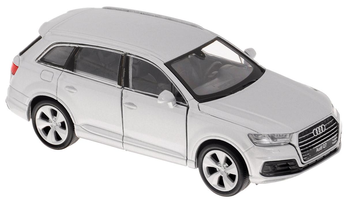 Welly Модель автомобиля Audi Q7 цвет белый43706_белыйМодель автомобиля Welly Audi Q7 - отличный подарок как ребенку, так и взрослому коллекционеру. Благодаря броской внешности, а также великолепной точности, с которой создатели этой модели масштабом 1:34 передали внешний вид настоящего автомобиля, модель станет подлинным украшением любой коллекции авто. Машина будет долго служить своему владельцу благодаря металлическому корпусу с элементами из пластика. Передние дверцы машины открываются, шины обеспечивают отличное сцепление с любой поверхностью пола. Машинка оснащена инерционным механизмом: достаточно немного отвести машинку назад, и затем отпустить, и она быстро поедет вперед. Модель автомобиля Welly Audi Q7 обязательно понравится вашему ребенку и станет достойным экспонатом любой коллекции.
