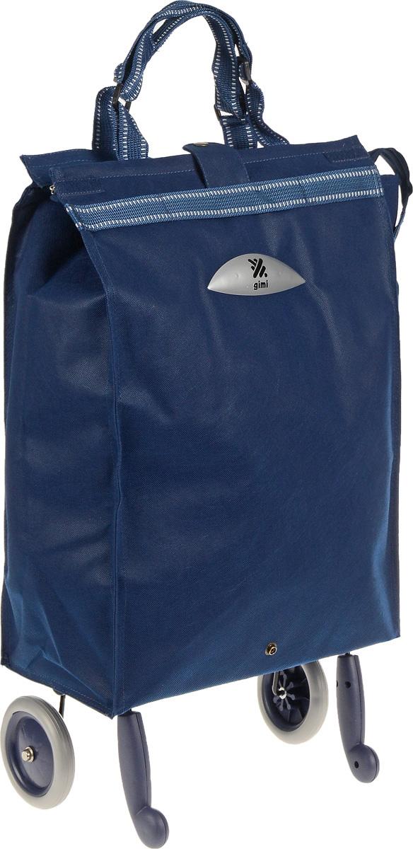 Сумка-тележка Gimi Brava, 38 л1507020502001Хозяйственная сумка-тележка Gimi Brava выполнена из высококачественного полиэстера со стальным каркасом. Она оснащена 1 вместительным отделением, закрывающимся с помощью застежки-молнии. Сумка водоустойчива, оснащена 2 колесами, обеспечивающими удобство транспортировки. Для компактного хранения сумку можно сложить. Максимальная нагрузка: 15 кг.