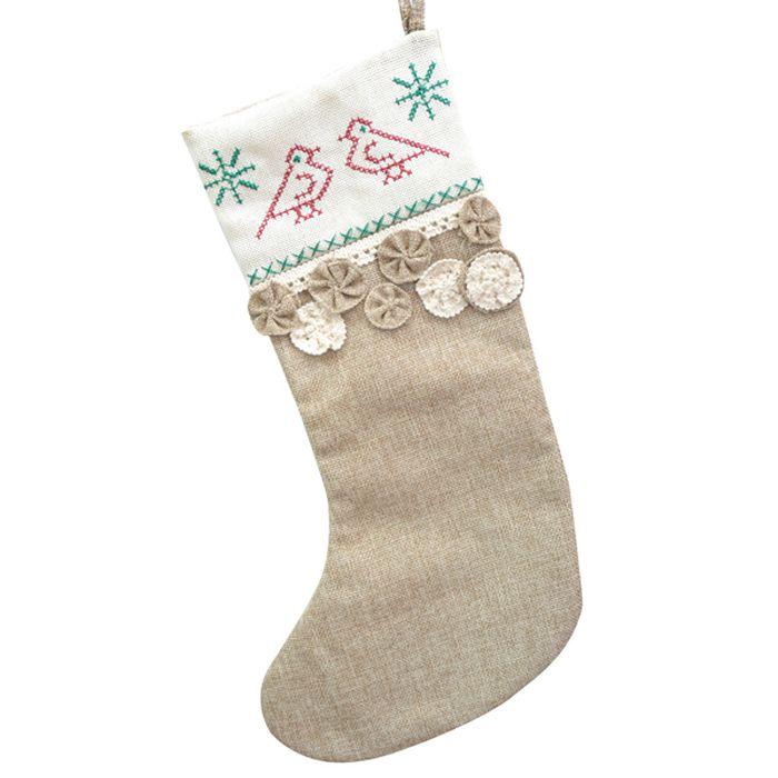 Носок для подарков Winter Wings Кантри, длина 47 см. N02338N02338Носок для подарков КАНТРИ, 47 см , полиэстр