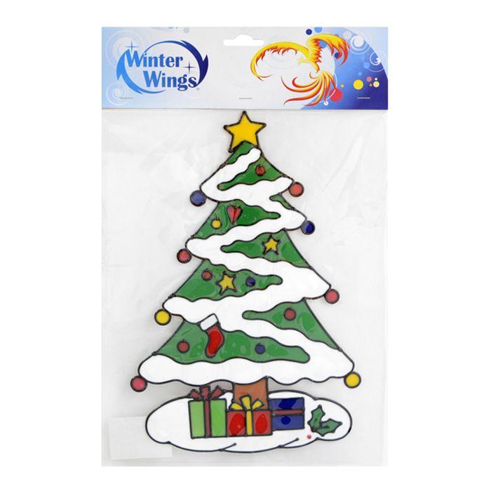 Наклейка-панно декоративная Winter Wings, на стекло, 23 х 34 см. N09118N09118Наклейка-панно гелевая, декоративная, на стекло, 1 шт. в пакете, 23х34 см