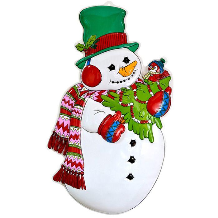 Панно Winter Wings Снеговик с елкой, 86 х 48 см. N09139N09139Панно СНЕГОВИК С ЕЛКОЙ, 86х48 см, ПВХ