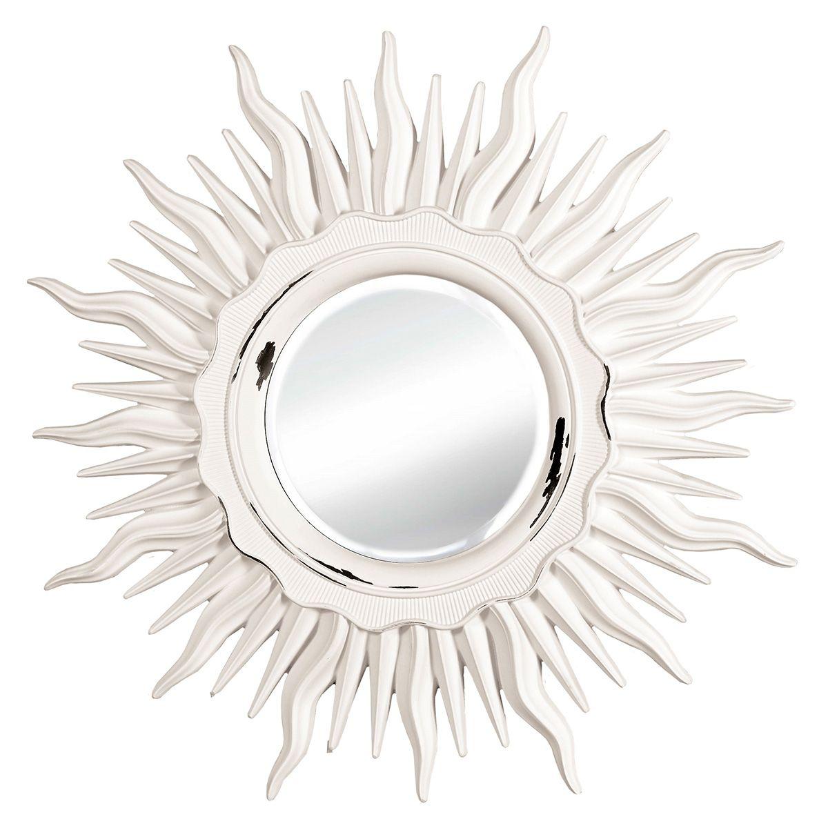 Зеркало VezzoLLi Астро, цвет: белый, диаметр 96 см. 11-0311-03Зеркало выкрашено в стиле Шебби Шик - с потертостями. Ручная работа.