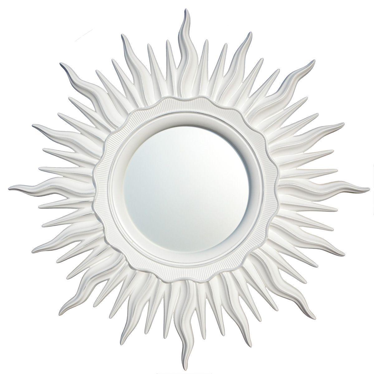 Зеркало VezzoLLi Астро, цвет: белый, диаметр 96 см11-66
