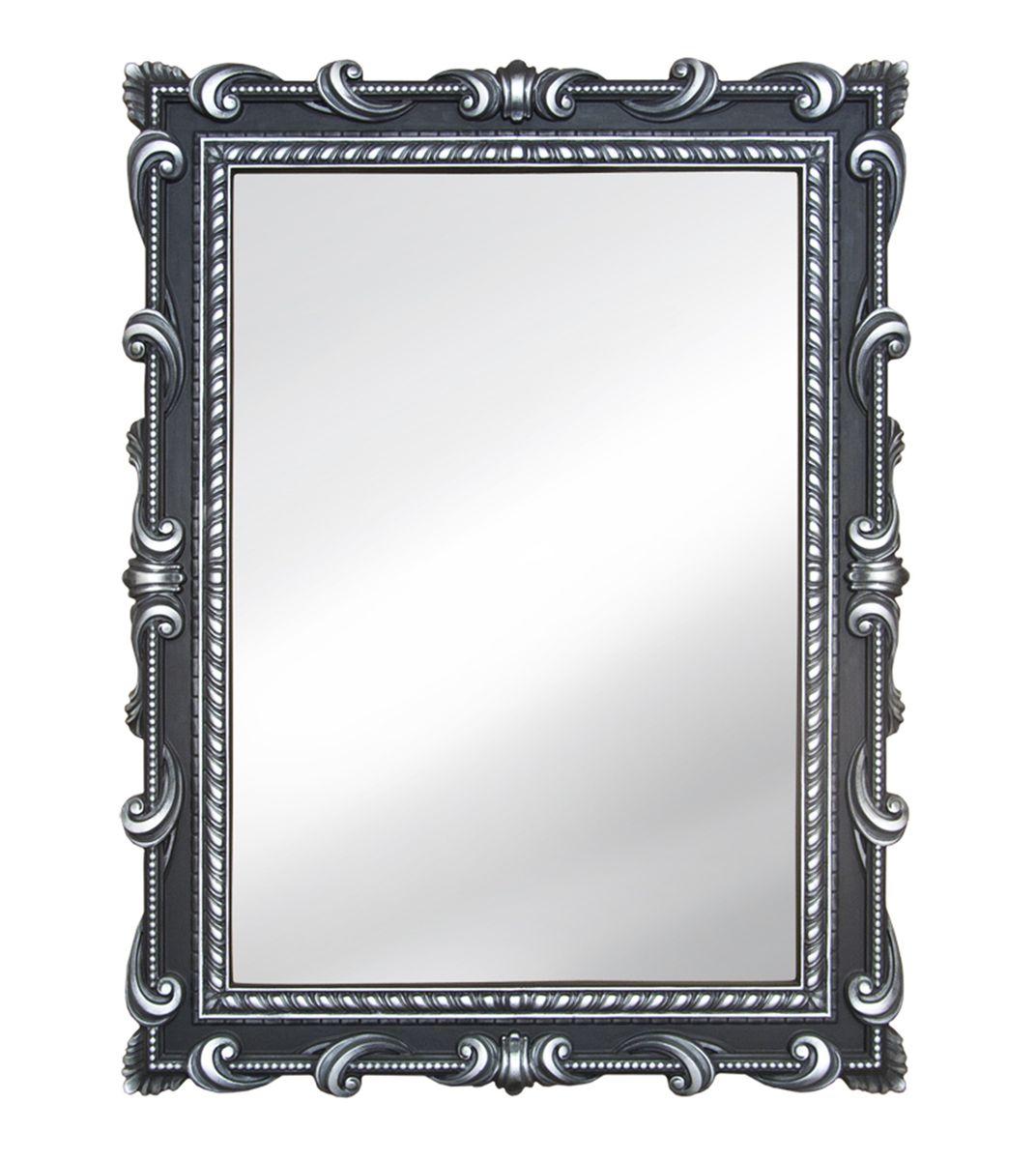 Зеркало VezzoLLi Тениа, цвет: черный, 94 х 72 см12-32С обратной стороны зеркало снабжено тремя металлическими подвесами для возможности разместить его и вертикально и горизонтально.