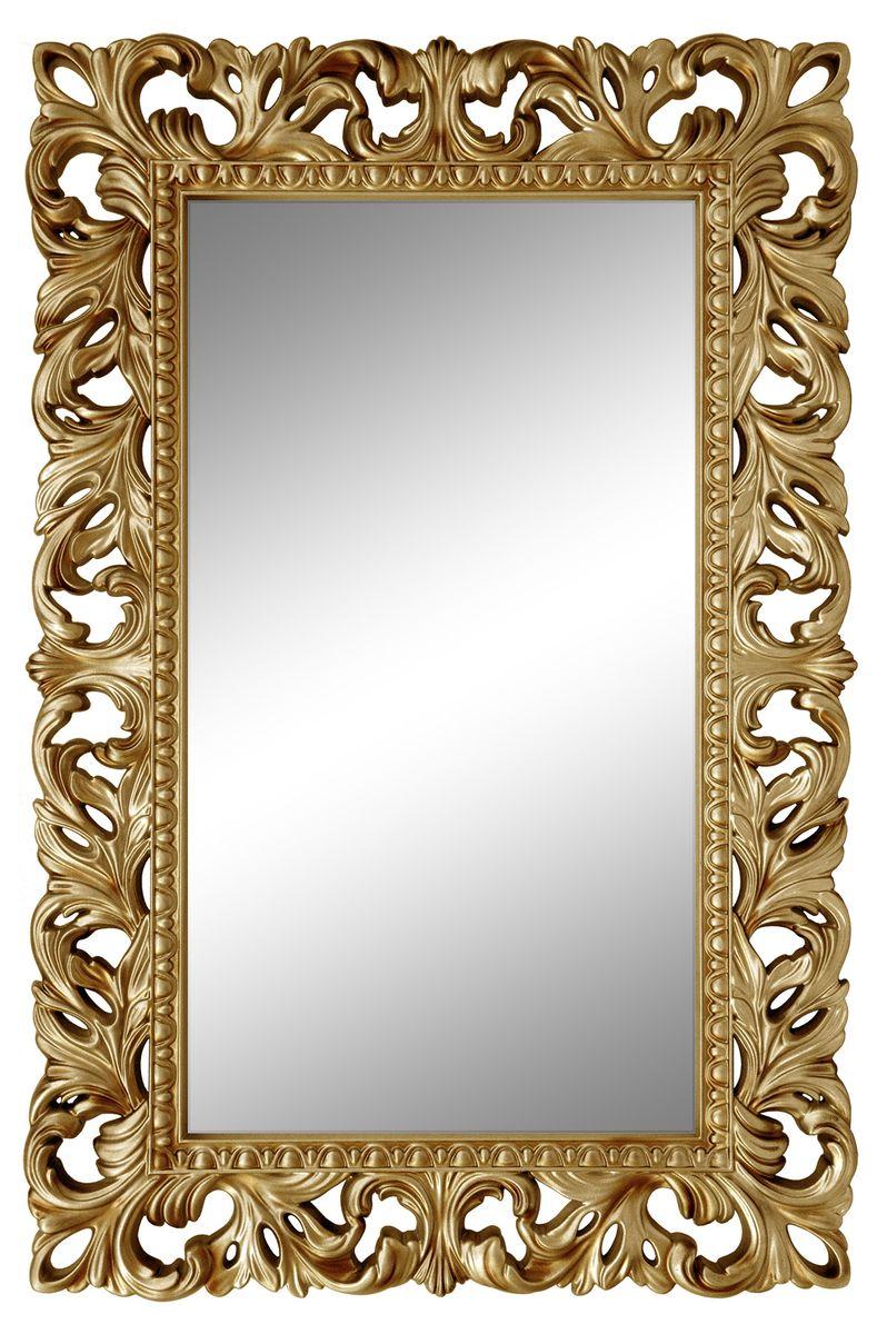 Зеркало VezzoLLi Лиа, цвет: золотой, 95 х 63 см14-11С обратной стороны зеркало снабжено тремя металлическими подвесами для возможности разместить его и вертикально и горизонтально.
