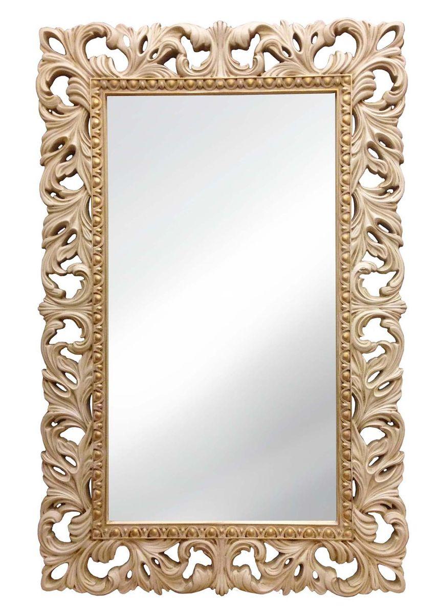 Зеркало VezzoLLi Лиа, цвет: слоновая кость, 95 х 63 см14-29С обратной стороны зеркало снабжено тремя металлическими подвесами для возможности разместить его и вертикально и горизонтально.