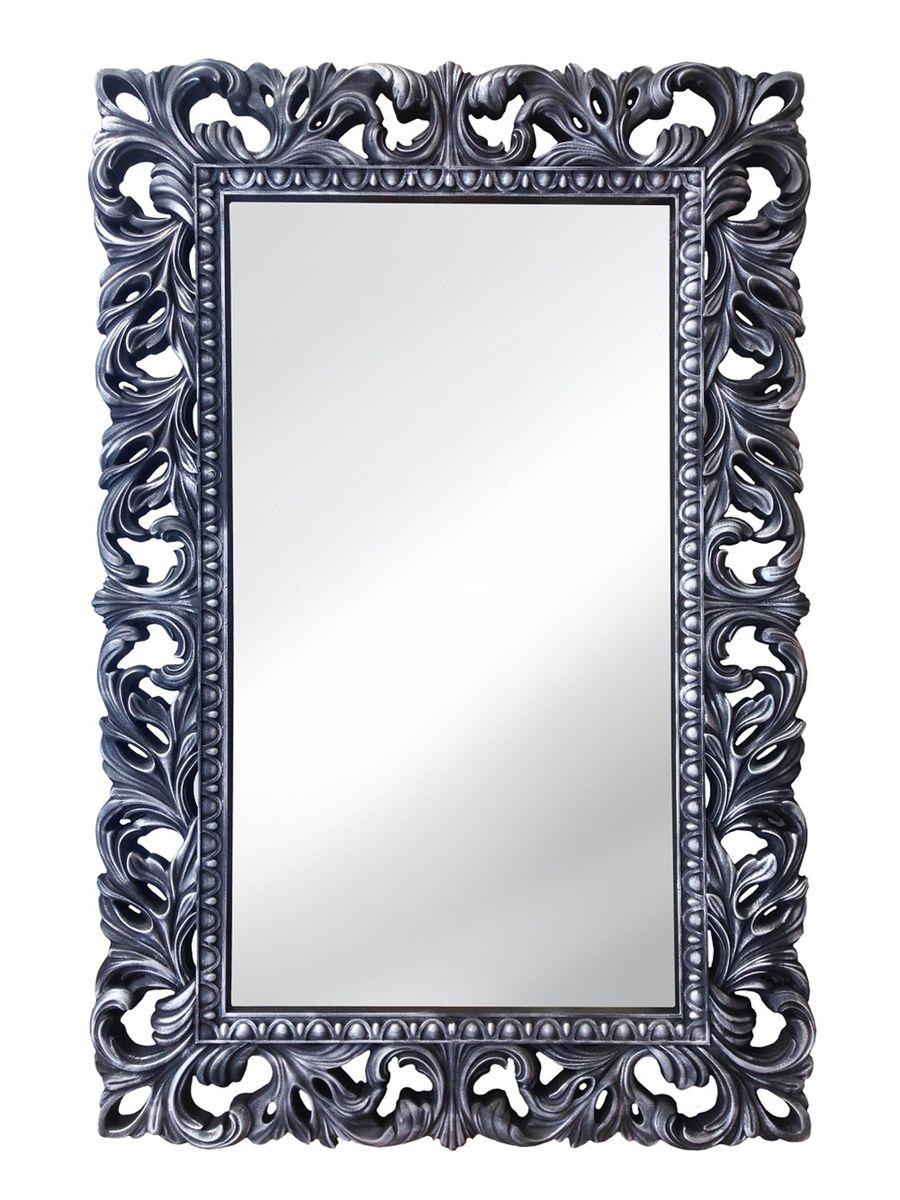Зеркало VezzoLLi Лиа, цвет: черный, 95 х 63 см14-32С обратной стороны зеркало снабжено тремя металлическими подвесами для возможности разместить его и вертикально и горизонтально.
