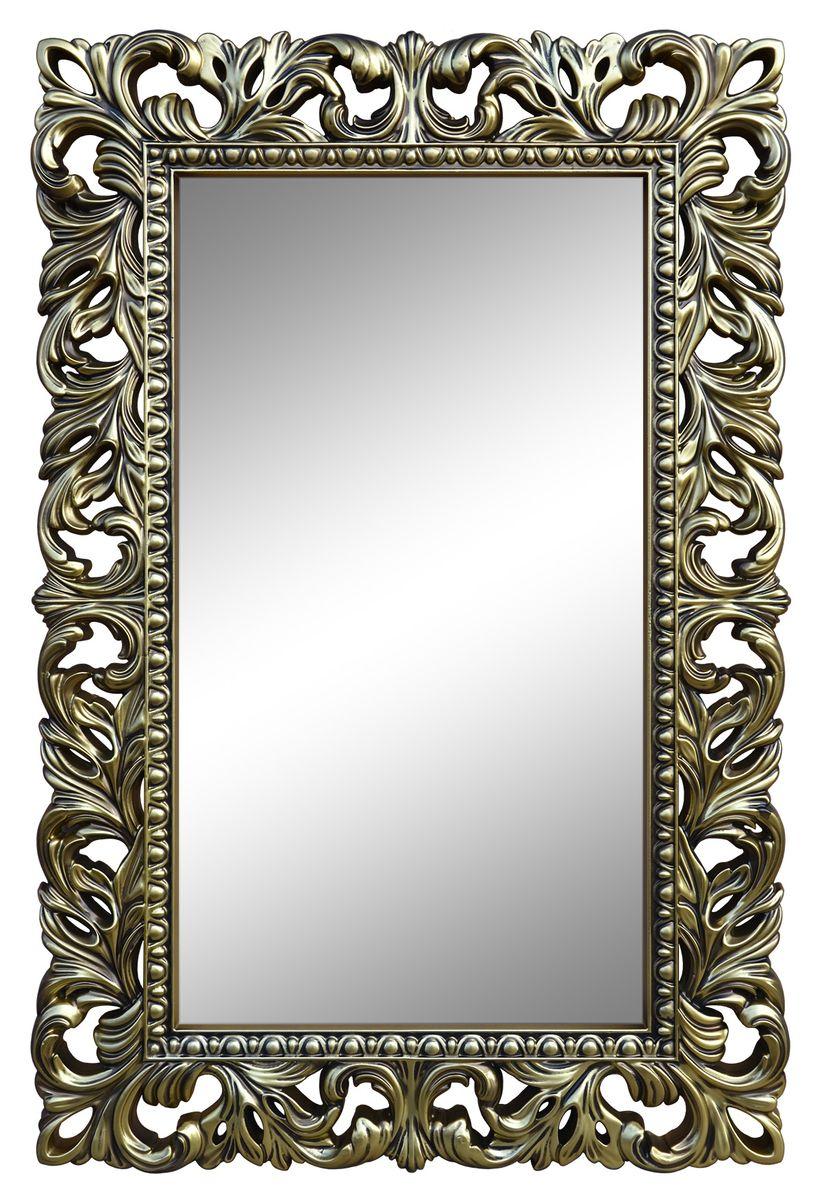 Зеркало VezzoLLi Лиа, цвет: бронза, 95 х 63 см14-78С обратной стороны зеркало снабжено тремя металлическими подвесами для возможности разместить его и вертикально и горизонтально.