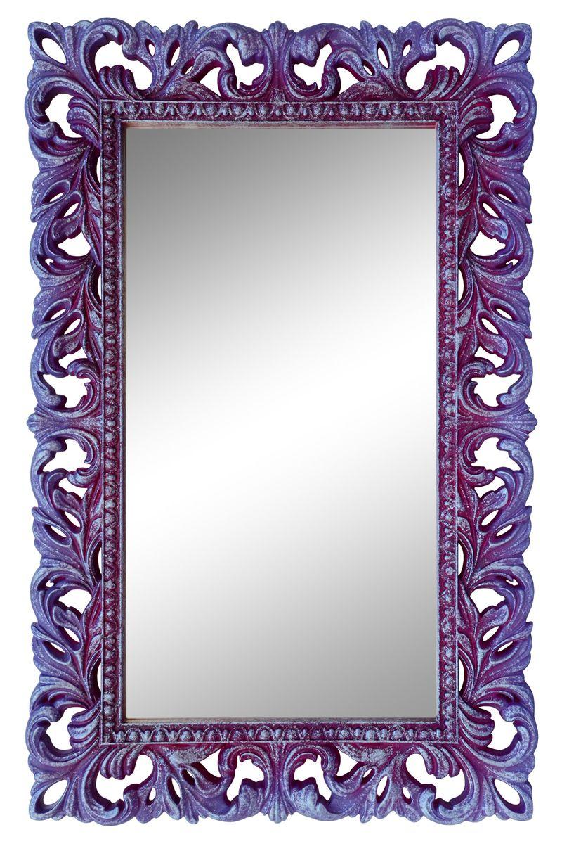 Зеркало VezoLLi Италиа, цвет: сиреневый, 115 х 75 см16-24С обратной стороны зеркало снабжено тремя металлическими подвесами для возможности разместить его и вертикально и горизонтально.