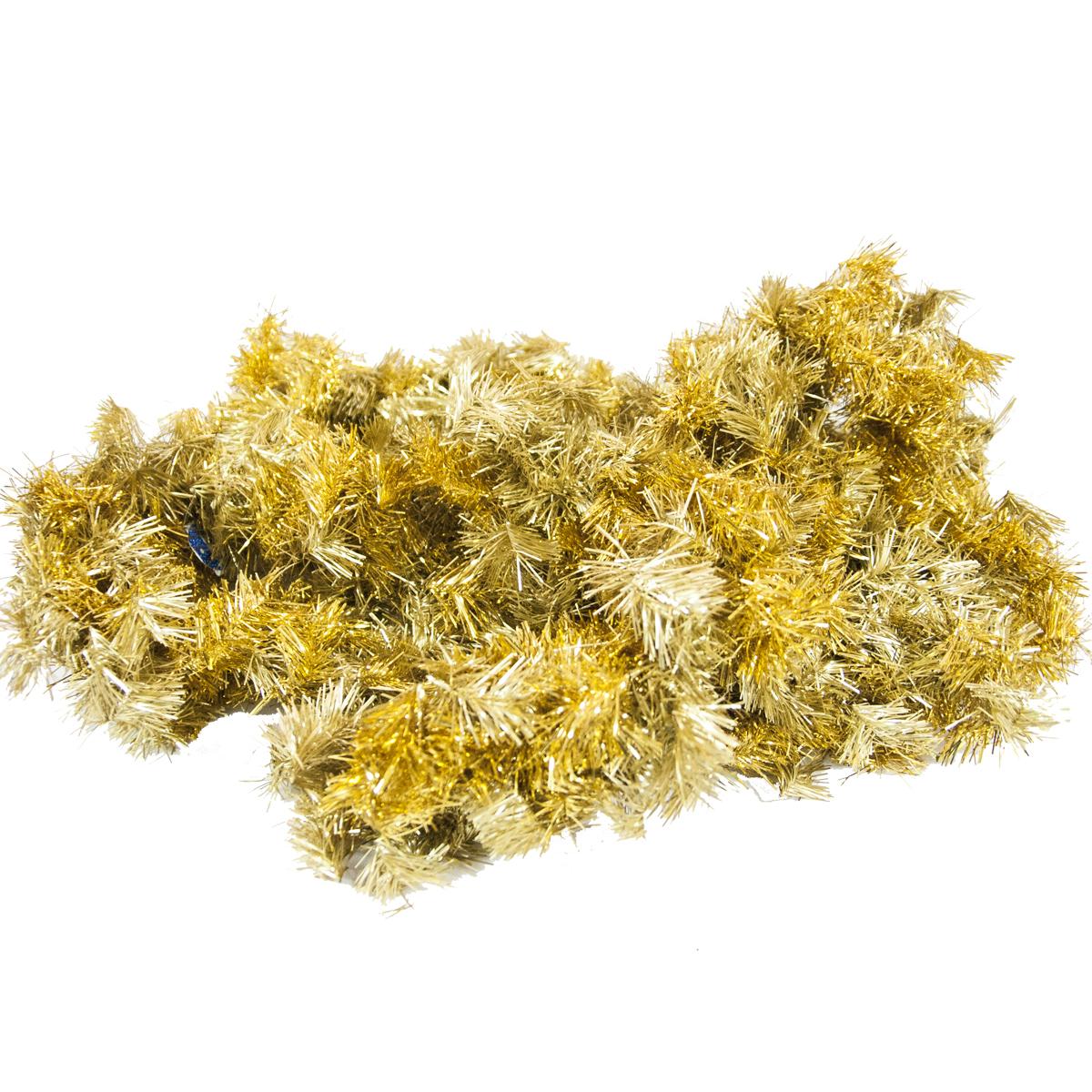 Гирлянда новогодняя хвойная Moranduzzo, цвет: золотистый, диаметр 20 см, длина 275 см121204500Гирлянда хвойная 20см/275см, цв.золото блеск/матовый Moranduzzo