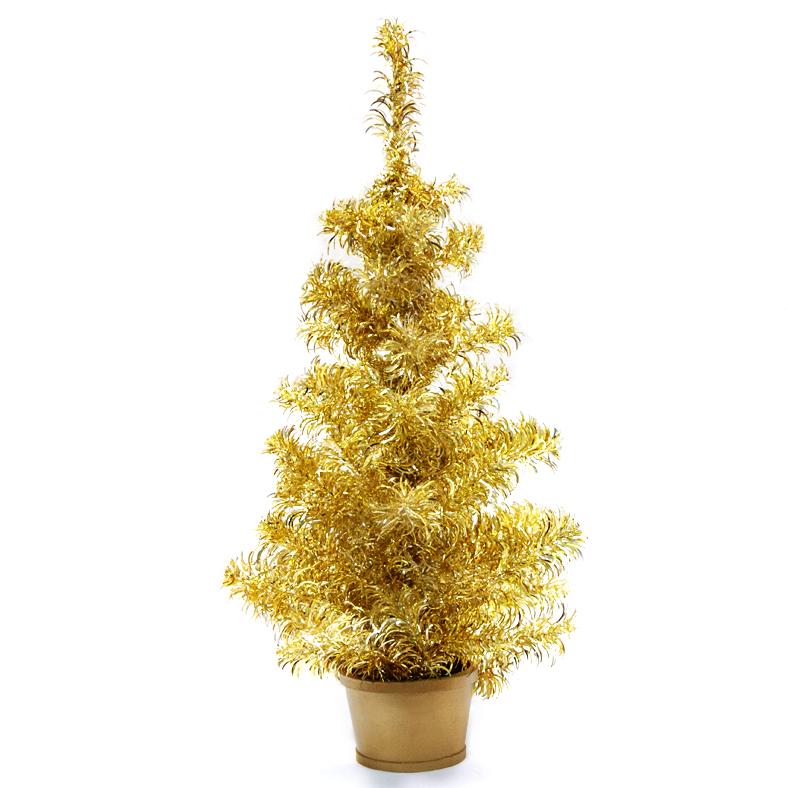 Елка настольная Weiste, цвет: серебряно-золотой, высота 80 см5022Елочка настольная 80см, цвет серебряно-золотой Weiste